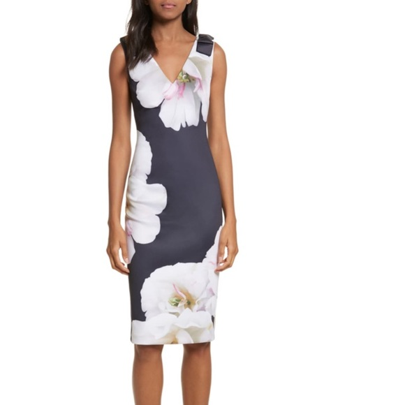 Ted Baker London Dresses & Skirts - Ted Baker London 'Gardenia' Bow Shoulder Dress